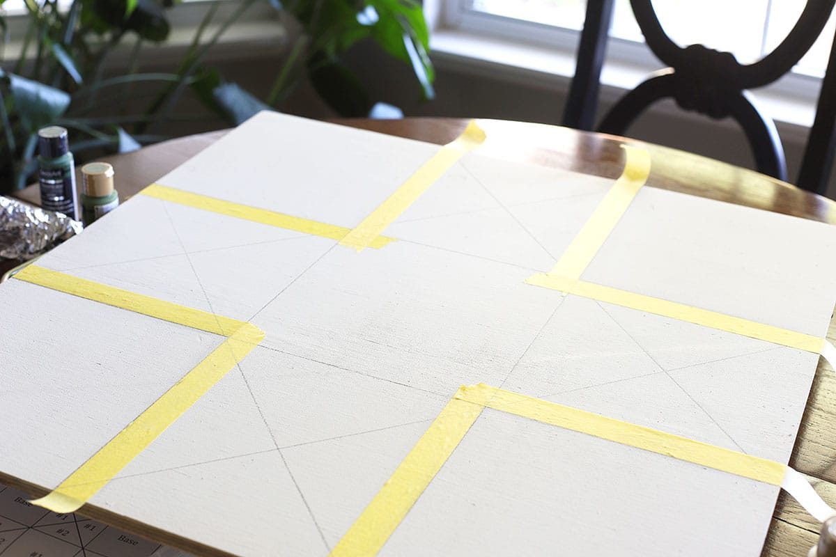 taping plywood for barn quilt
