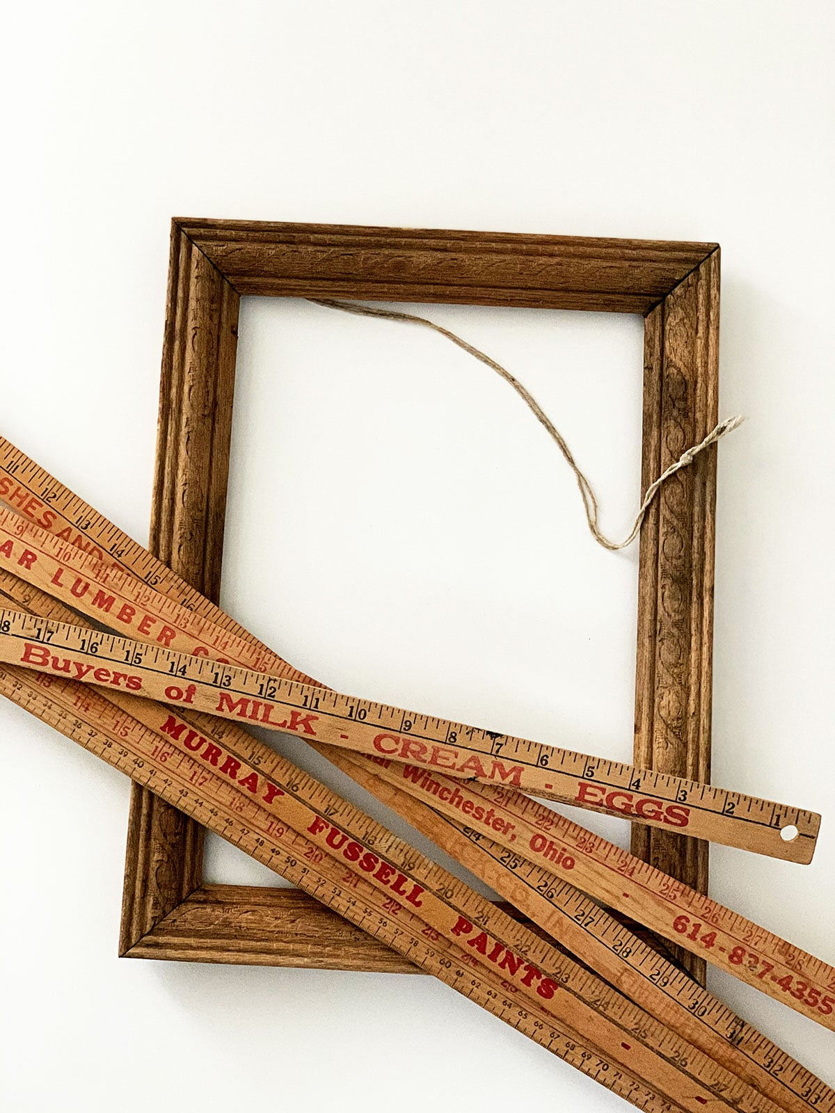 yardsticks and frame for repurposing project
