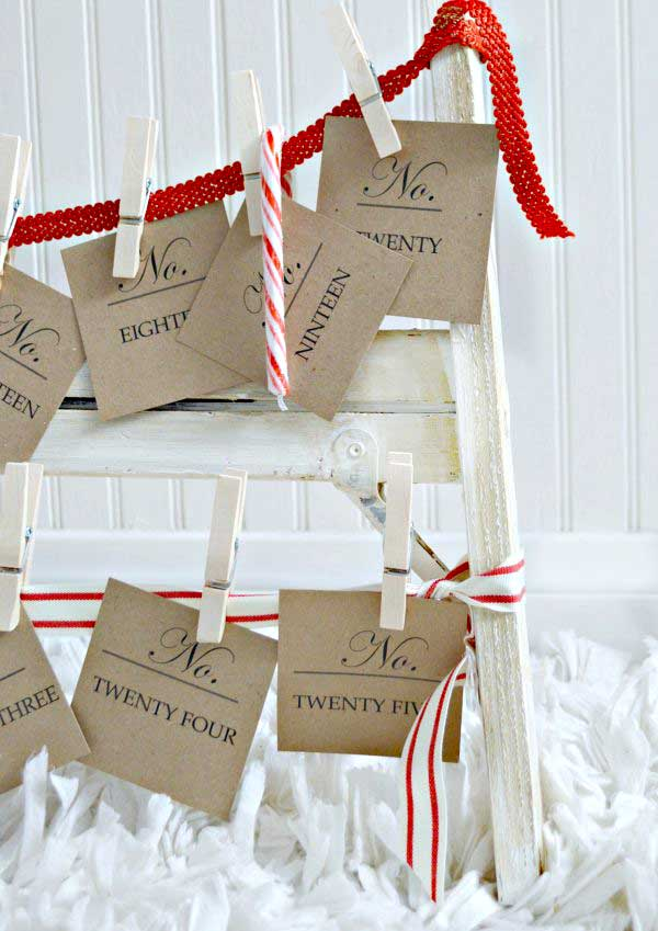 farmhouse style DIY advent calendar for Christmas