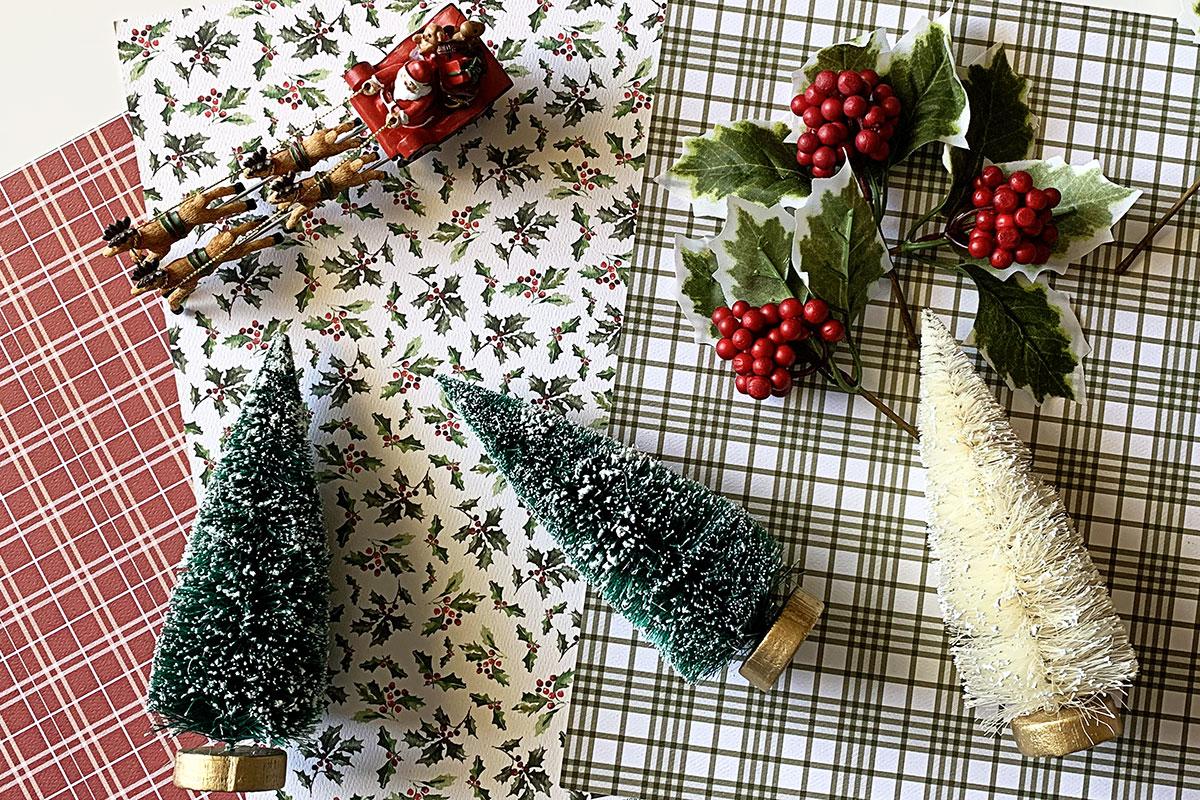 Christmas crafting supplies