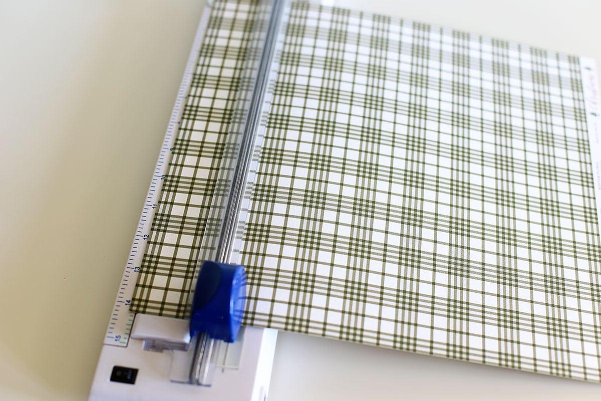 cutting scrapbook paper