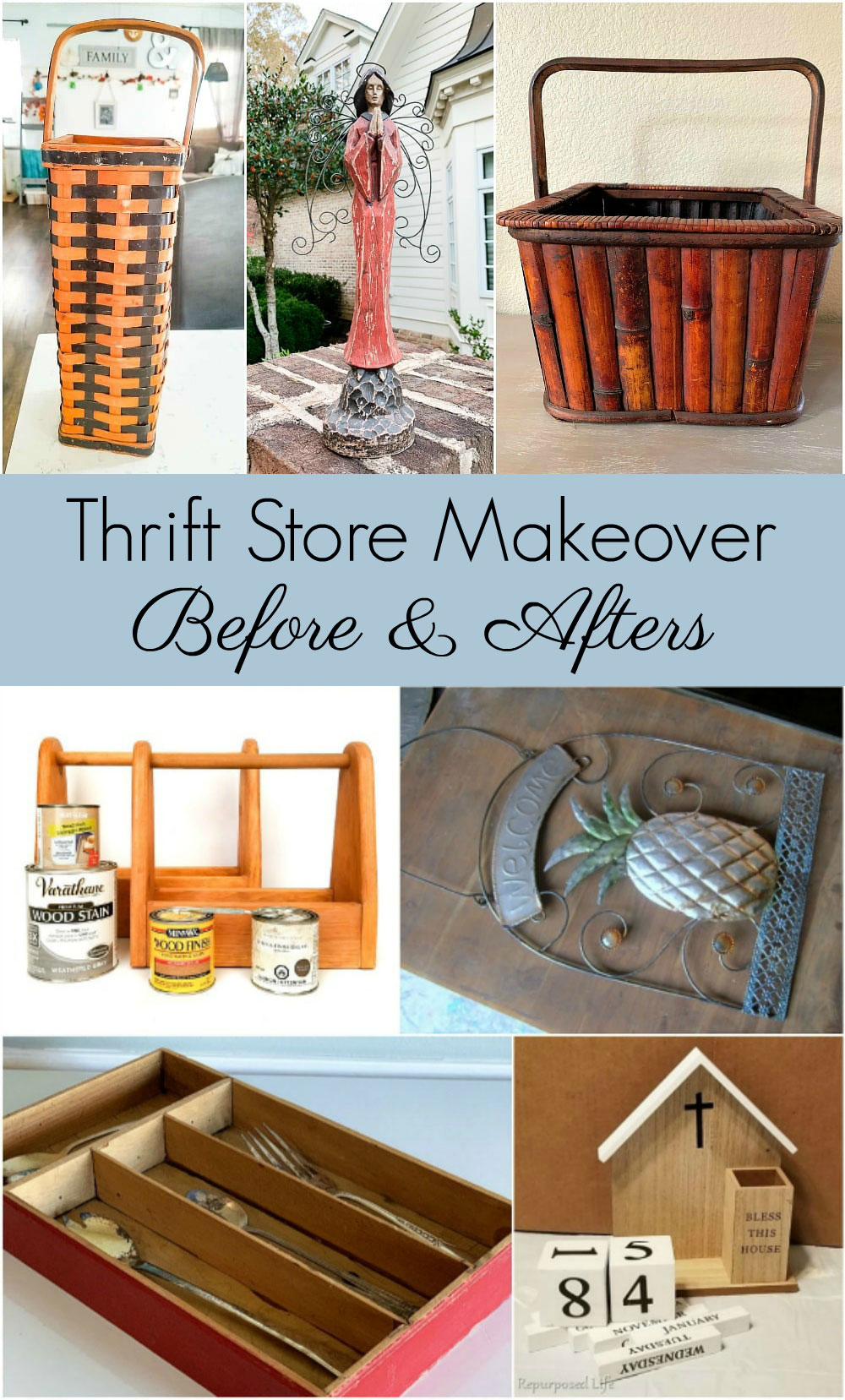 before and after thrift store makeovers