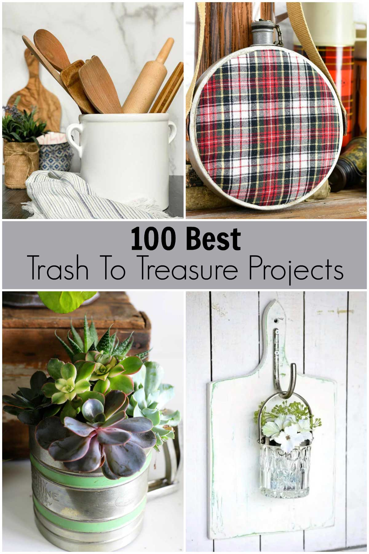 100 best trash to treasure projects - upcycling