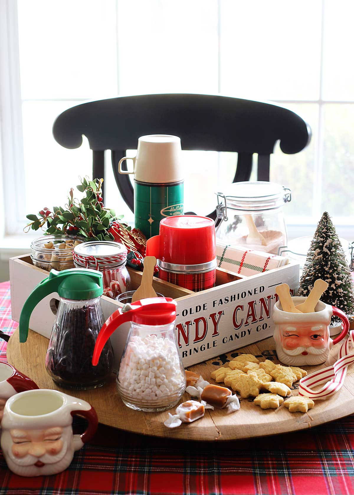 vintage inspired self-serve hot chocolate bar