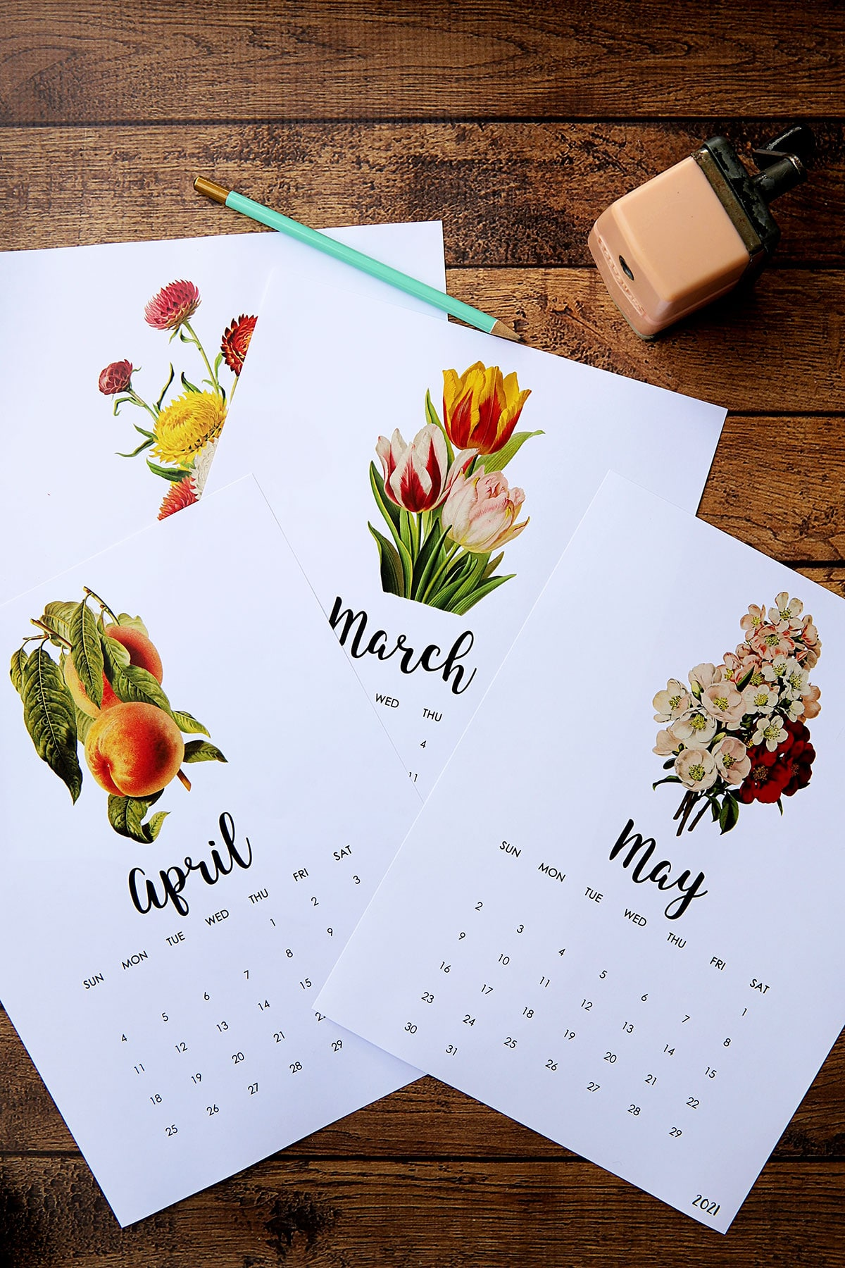 free printable calendar pages