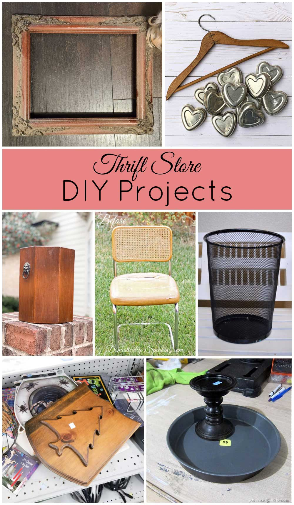 thrift store DIY projects