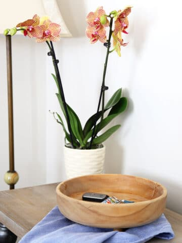 bleaching wooden bowl for farmhouse style look