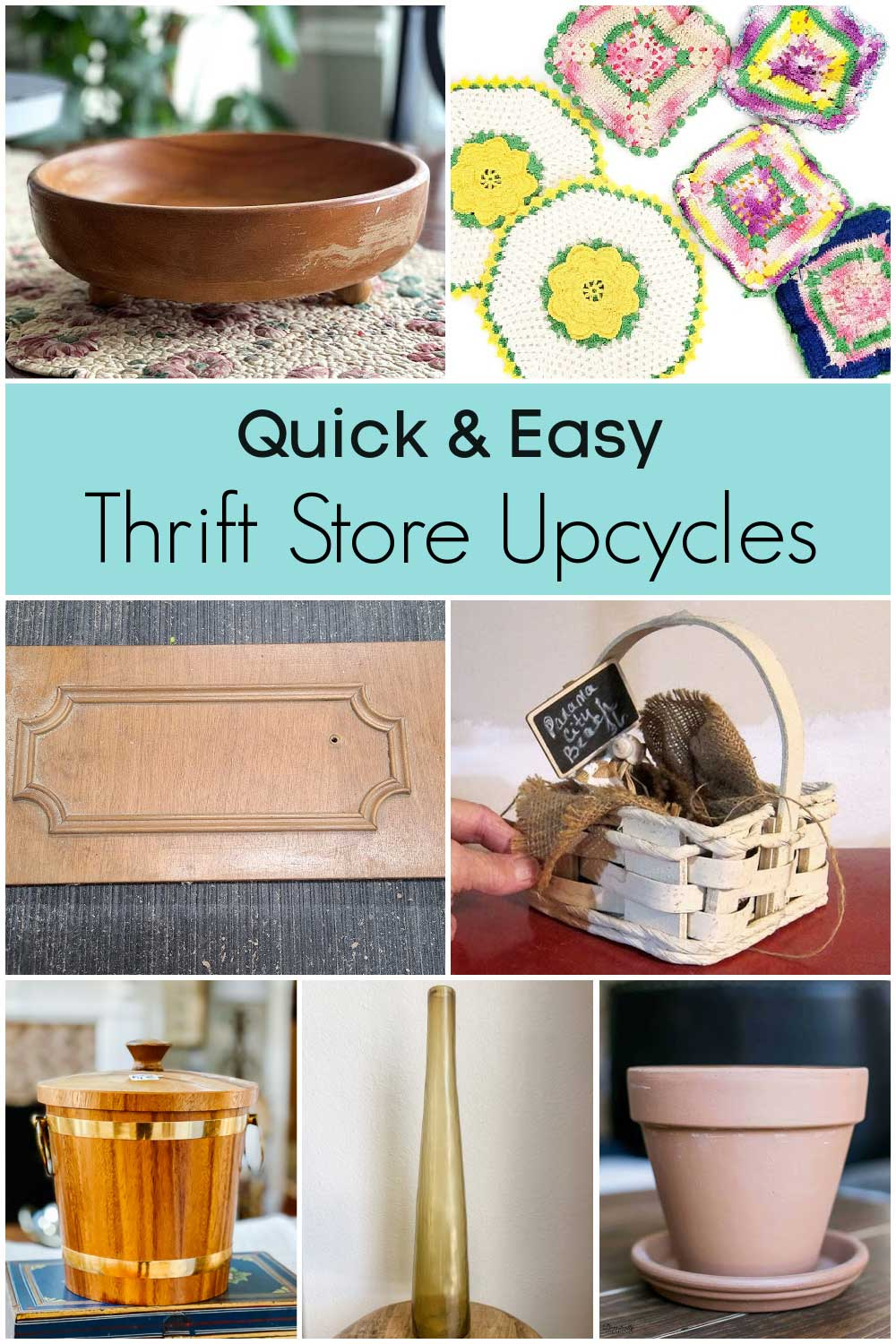 Items from the thrift store to upcycle for home decor