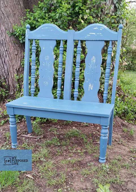 chairs turned into bench