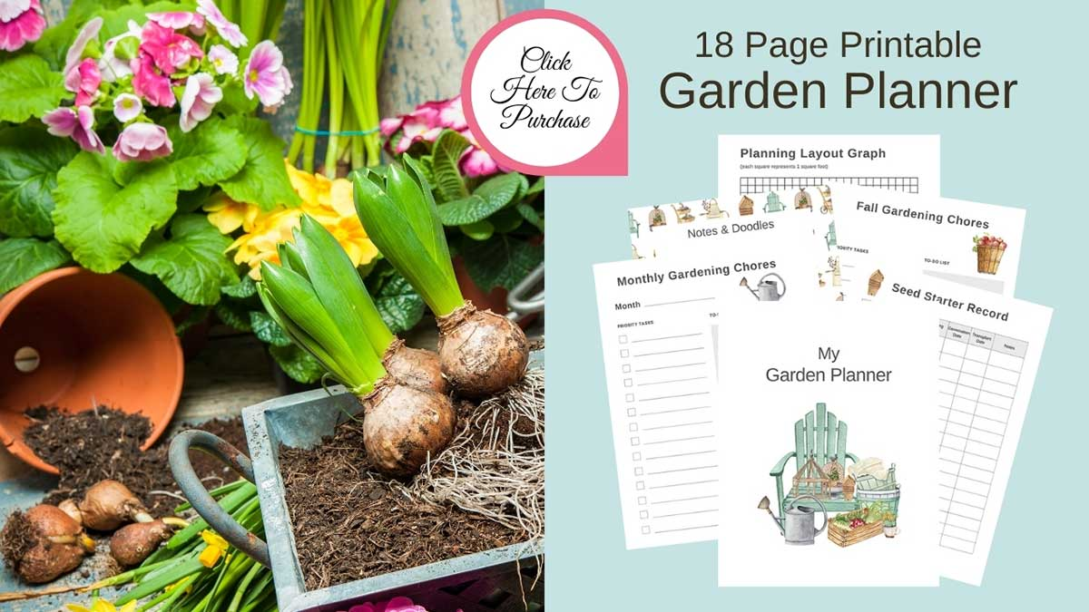 purchase printable garden planner