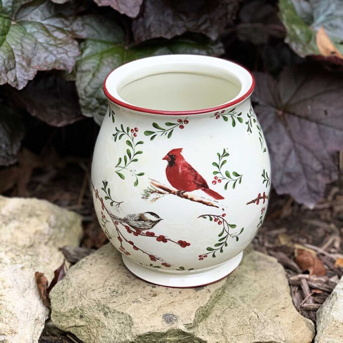 Cardinal cookie jar from Walmart found at the thrift store.