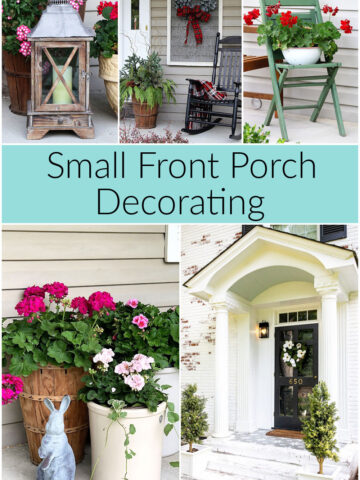 Decorating a small porch.