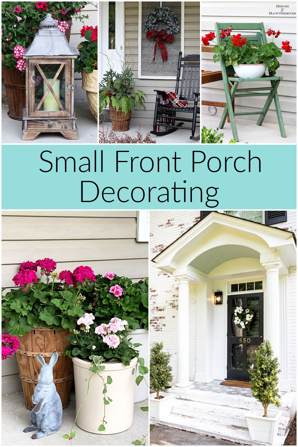 Best ideas for decorating small front porches.